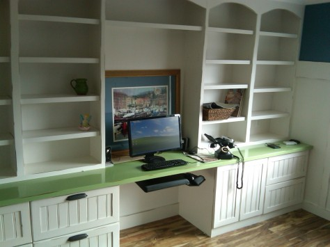 built in bookcase desk plans